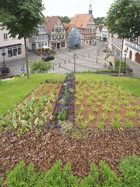 Landschaftsarchitektur Backnang - Blick von oben über die Grünfläche