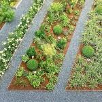 Grünfläche von oben