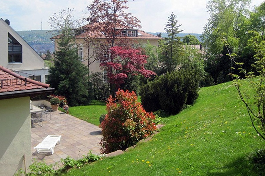 Hausgarten der Familie N. von oben - Landschaftsarchitektur Privat
